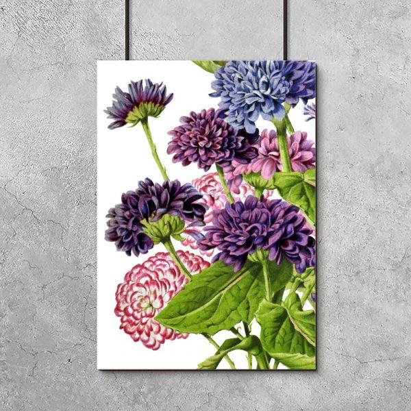 kolorowy wzór z motywem kwiatów