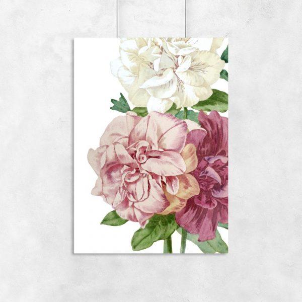 plakat z kwiatami