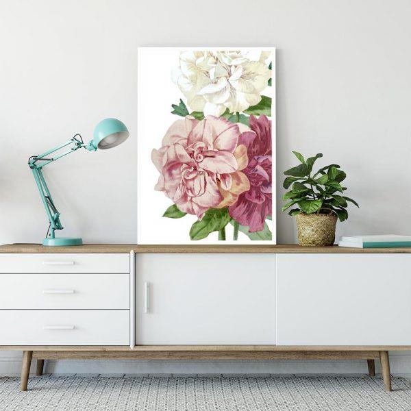 kolorowe kwiatki jako dekoracja