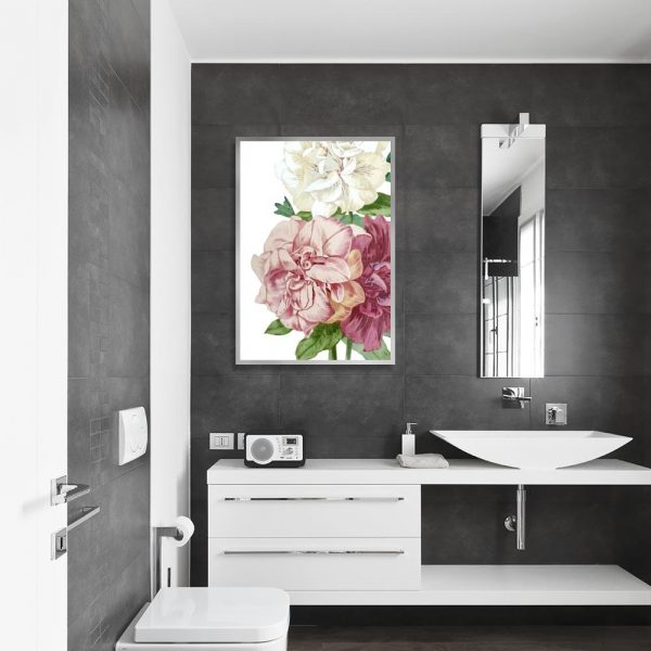 botaniczna dekoracja z kwiatowym motywem