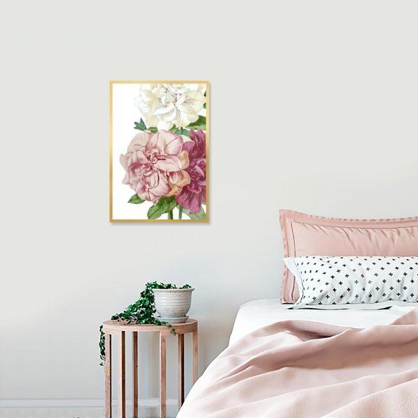 kwiatki na plakacie