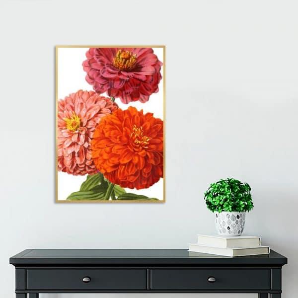 kolorowa dekoracja z kwiatami