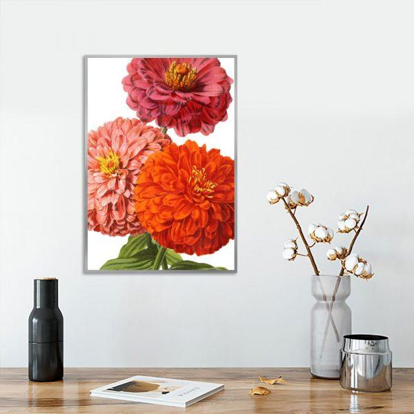 kolorowy plakat z motywem kwiatów
