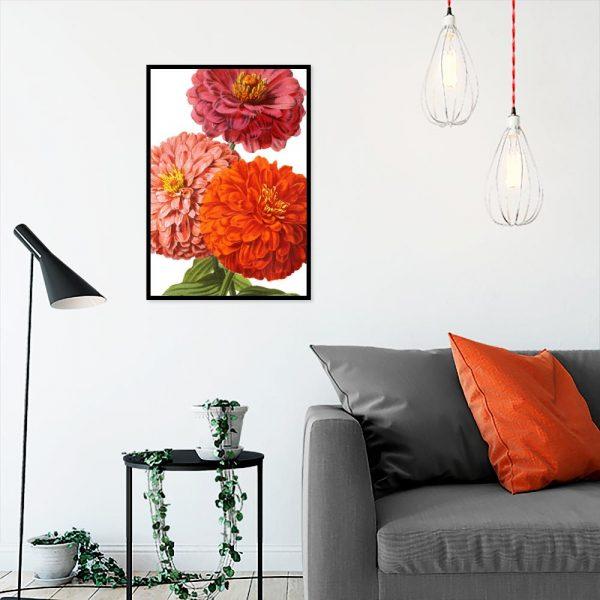 dekoracja kwiatowa - plakat
