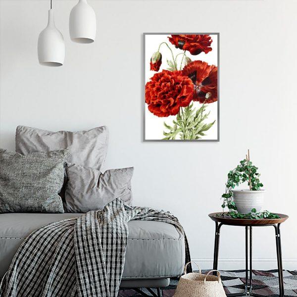 motyw kwiatów na plakacie