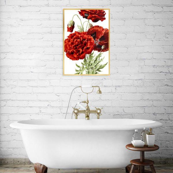 plakat do łazienki nad wannę