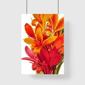 botaniczny motyw kwiatowy