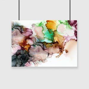 abstrakcyjna ścienna dekoracja