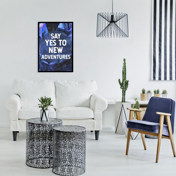 granatowo-fioletowy plakat