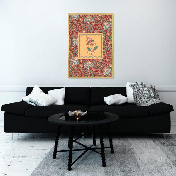 plakat marokański z kwiatem