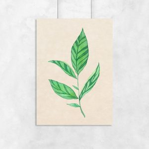 plakat z dekoracją botaniczną
