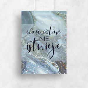 plakat do salonu motywacyjny