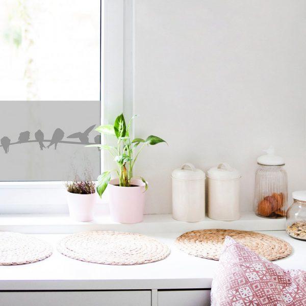 naklejka na szybę do kuchni z ptakami