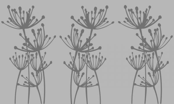 firanka samoprzylepna z roślinami