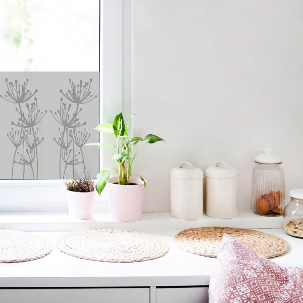 okleina na okno do kuchni z roślinnym motywem