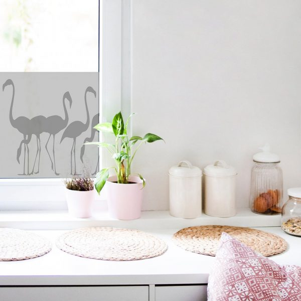 naklejka na okno do kuchni z flemingami