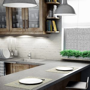 okleina okienna do kuchni imitująca kafelki