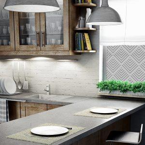 Folia na szybę z geometrycznym motywem do kuchni