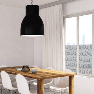 Okleina okienna z motywem abstrakcji do jadalni