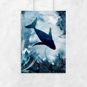 plakat z morskim zwierzęciem