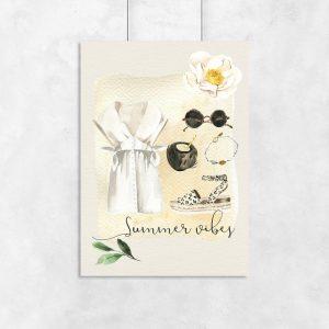 plakat z napisem Summer Vibes