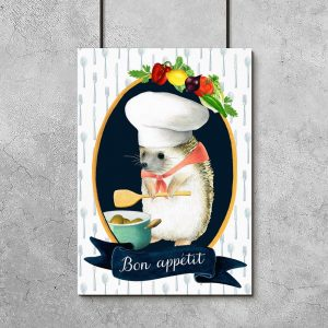 plakat jeż kucharz