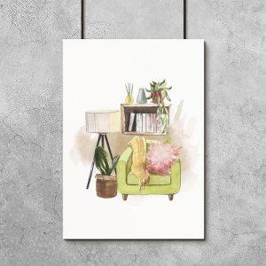 plakat pomieszczenie w domu