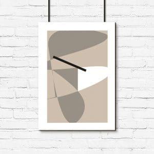 nowoczesna abstrakcja na plakacie