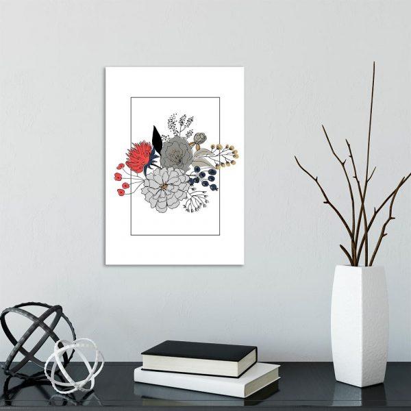plakat ilustracje kwiatów