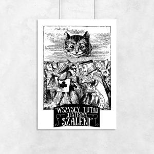 plakat ilustracja z alicji w krainie czarów