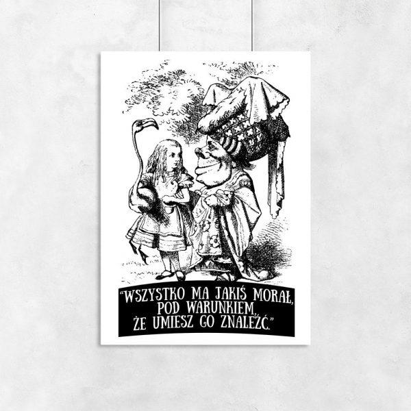 plakat czarno-biały