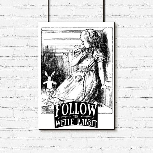 plakat follow the white rabbit