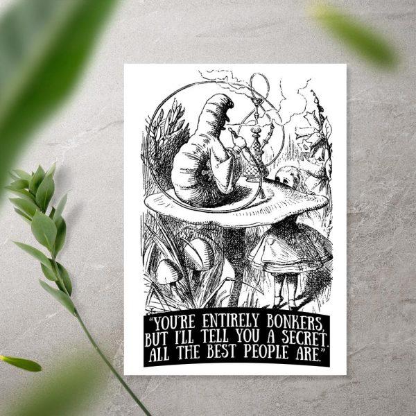 plakat z motywem czarno-białym