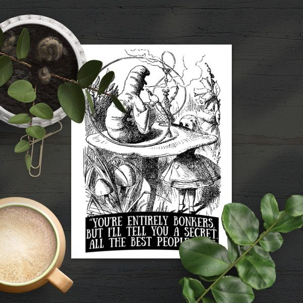 plakat cytat alicja w krainie czarów