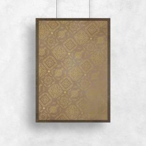 plakat brązowy marokańskie wzory