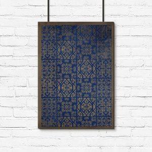 plakat marokańskie wzory