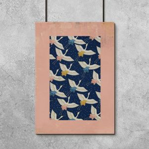 plakat z ptakami