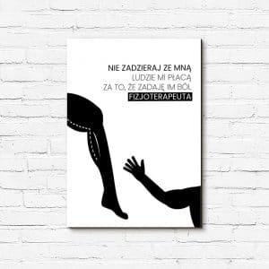 plakat dla fizjoterapeuty