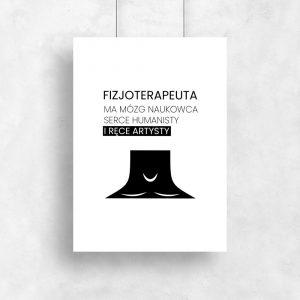 plakat motyw fizjoterapii