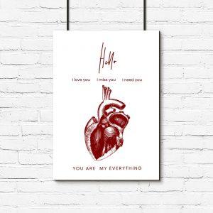 plakat serce