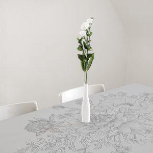 obrus samoprzylepny na szklany stół z motywem kwiatów