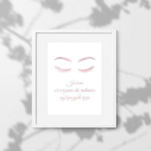 Plakaty rose gold do salonu kosmetycznego