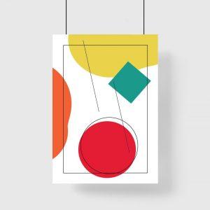 Nowoczesny plakat z figurami
