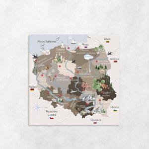 brązowa mapa jako obraz