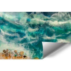 Fototapeta dekoracja z kamieniami morski motyw