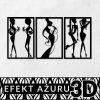 Dekoracja 3d z kobiecymi postaciami