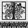 Ażurowa dekoracja ścienna - motyw etniczny